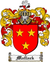 Pay for Matlack Family Crest  Matlack Coat of Arms