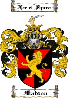 Pay for Matson Family Crest  Matson Coat of Arms