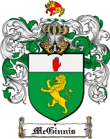Pay for Mcginnis Family Crest  Mcginnis Coat of Arms Digital Download