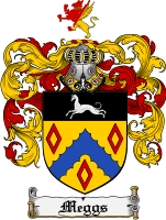 Pay for Meggs Family Crest Meggs Coat of Arms Digital Download