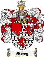 Pay for Merry Family Crest Merry Coat of Arms Digital Download