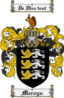 Pay for Mervyn Family Crest Mervyn Coat of Arms Digital Download