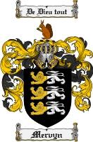 Pay for Mervyn Family Crest Mervyn Coat of Arms Digital Download