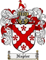 Pay for Napier Family Crest Napier Coat of Arms Digital Download