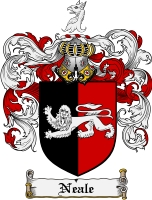 Pay for Neale Family Crest Neale Coat of Arms Digital Download