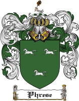 Pay for Phrese Family Crest Phrese Coat of Arms Digital Download
