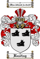 Pay for Reading Family Crest  Reading Coat of Arms