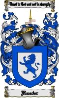 Pay for Render Family Crest  Render Coat of Arms Digital Download