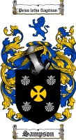Pay for Sampson Family Crest  Sampson Coat of Arms