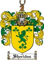 Pay for Sheridan Family Crest  Sheridan Coat of Arms Digital Download