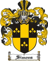 Pay for Simons Family Crest  Simons Coat of Arms