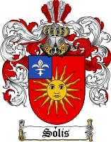 Pay for Solis Family Crest  Solis Coat of Arms