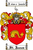 Pay for St. James Family Crest St. James Coat of Arms Digital Download