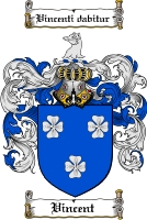 Pay for Vincent Family Crest  Vincent Coat of Arms