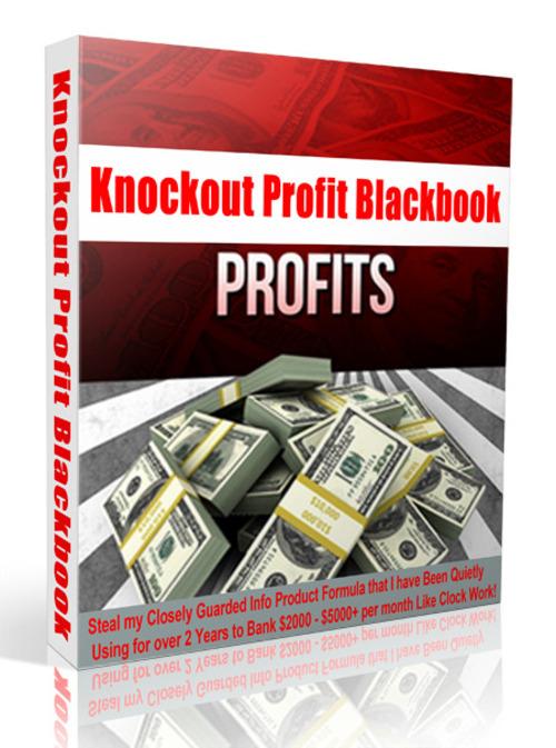 Pay for Knockout Profit Blackbook