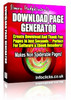Thumbnail *New* Download Page Generator 698 With MRR.