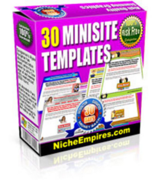 Pay for 30 Mini Site Templates