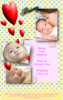 Thumbnail love hearts baby announcement for girl