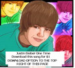 Thumbnail JUSTIN BIEBER - ONE TIME - LISTEN OR DOWNLOAD HERE ONLY $1