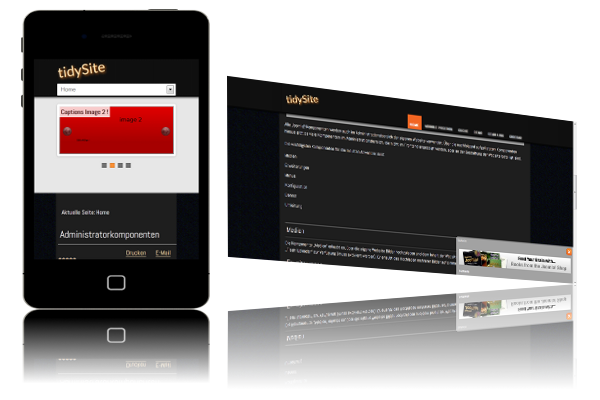 Pay for tidySite V1.0 Joomla! Template