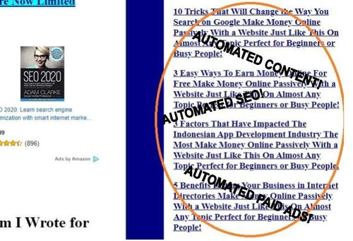 Pay for Automated Content and Ad Placement PHP Script