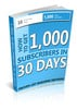 Thumbnail 1,000 subscribers in 30 days