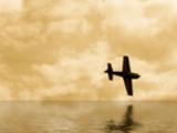 Thumbnail 2 D Art - Flugzeug über Wasser