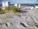 Thumbnail Postermotiv HDR - PM019 - Am Strand Strandkorb Sand Ruhe