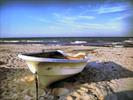 Thumbnail Postermotiv HDR - PM006 - Strandlandschaft - Boot am Strand