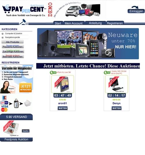 Pay for BID Auktionshaus 1 Cent Auktion Swoopo & Co DEUTSCH/GERMAN