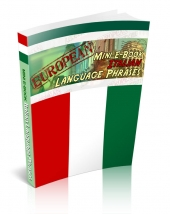 Thumbnail European Mini E-Book Italian Language Phrases With GR (Giveaway Rights)