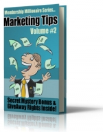Thumbnail Membership Millionaire Series Marketing Tips Volume #2 With GR (Giveaway Rights)