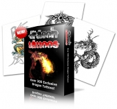 Thumbnail Dragon Tattoos With MRR (Master Resale Rights)