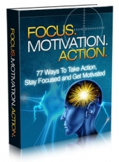 Thumbnail Focus. Motivation. Action. With MRR (Master Resale Rights)