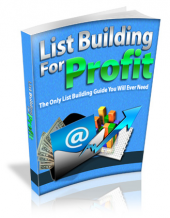 Thumbnail List Building For Profit With MRR (Master Resell Rights)