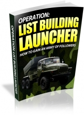 Thumbnail List Building Launcher With MRR (Master Resale Rights)