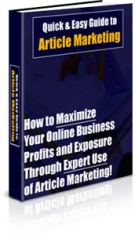 Thumbnail Quick & Easy Guide to Article Marketing With PLR (Private Label Rights)