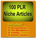 Thumbnail 100 PLR Niche Articles - With Private Label Rights