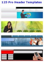 Thumbnail 125 Pro Header Templates - With Master Resale Rights