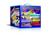 Thumbnail 125 Professional Business Header Template Package - With Master Resale Rights