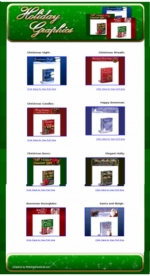 Thumbnail 12 Matching Sets Of Christmas Holiday Graphics