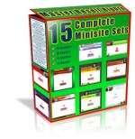 Thumbnail 15 Complete Minisite Sets - With Master Resale Rights