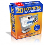 Thumbnail 20 Hot Niche Header Graphics V2 - With Master Resale Rights