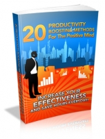 Thumbnail 20 Productivity Boosting Methods For The Positive Mind - With Master Resale Rights