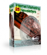 Thumbnail 24 Internet Marketing Newsletters - With Master Resale Rights