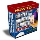 Thumbnail How To Create A Minisite In 30 Minutes Or Less - With Resell Rights