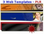 Thumbnail 3 Web Templates - PLR - With Private Label Rights