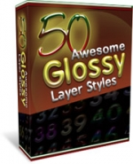 Thumbnail 50 Glossy Layer Styles With Master Resale Rights