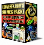 Thumbnail ECoverFX.com 98 Meg Graphic Pack! - With Resell Rights
