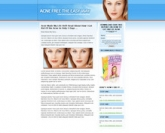 Thumbnail Acne Landing Page Template
